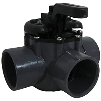 pentair 3port diverter valve with 2 25u0026quot pvc material
