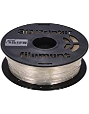Decdeal 3D Printer Filament PLA,1KG/ Spool MAX PETG Transparent Filament 1.75mm Diameter High Transparency Printing Material Refills for 3D Printers Drawing Pens