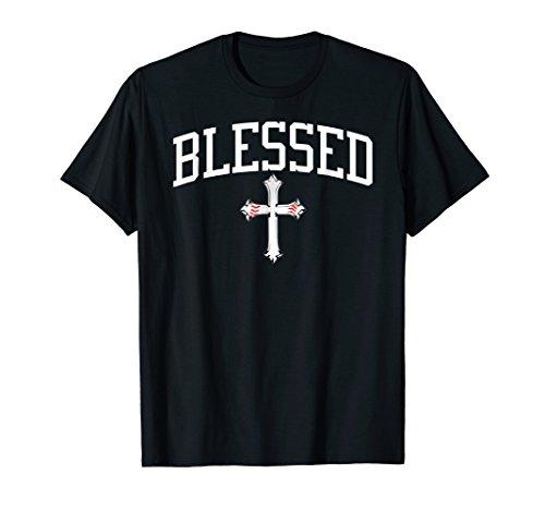 Blessed Baseball Seams Cross T Shirt