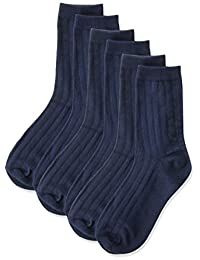 Jefferies Socks Big Boys' Three-Pack Rib Crew Socks