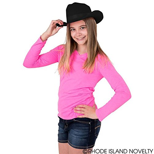 Rhode Island Novelty Black Cowboy Felt Hat Youth Size, One Per Order - http://coolthings.us
