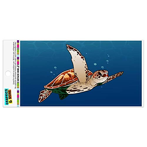 Graphics and More Sea Turtle Swimming in Ocean Automotive Car Refrigerator Locker Vinyl Magnet
