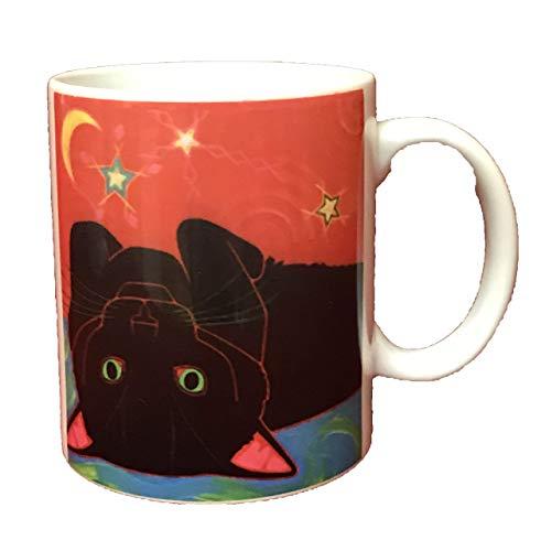 Wake Up Cookie Puss Ceramic 11 oz Mug, Collectible Cat Tableware by Angela Bond