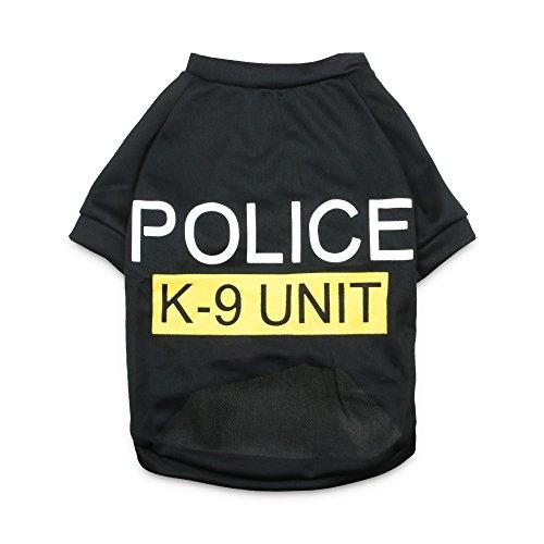DroolingDog Dog Police Canine T-shirt Pet Police Costume for Medium Large Dogs, XL, (Police Costume For Dog)