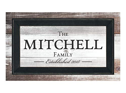 MRC Wood Products Personalized Family Name Sign Framed TimberPrintz Pallet Sign 12x20