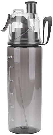 600ML Portable Clear Spray-Head Anti-Leak Water Bottle Sport School Cycling Tool