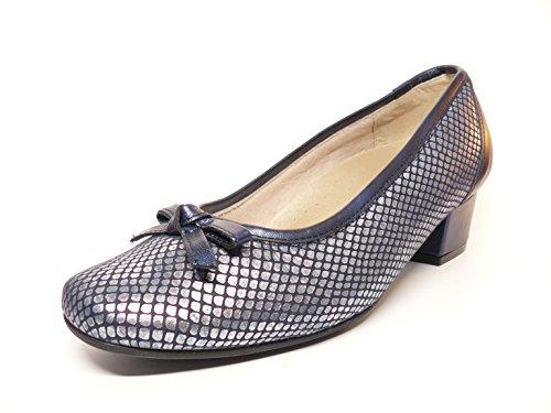Azul adorno Zapato de Azul elastica piel grabada mujer la tacon 81107 salon lazo en PLANTILLA marca CUTILLAS 79 EXTRAIBLE DOCTOR HpOrfHnwq