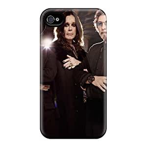 AshleySimms Iphone 4/4s Protective Hard Cell-phone Cases Custom Lifelike Black Sabbath Band Pictures [cnO8612kRnm]