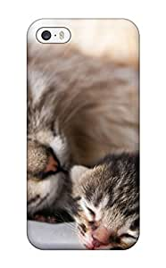 Quality JoelNR Case Cover With Baby Cat With Her Mother Nice Appearance Compatible With Iphone 5/5s