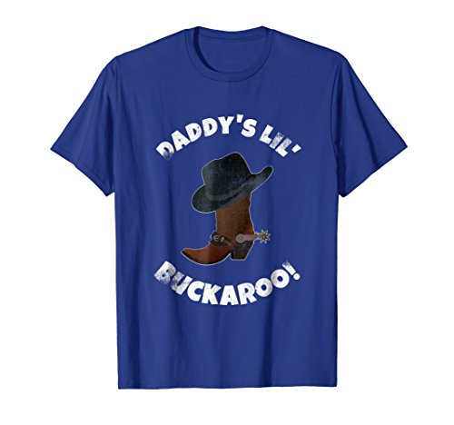 (Daddy's Lil Buckaroo! Cowboy Hat Boots Birthday Party Shirt)