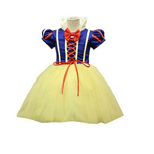 Baby Take A Bow Costume (VANGULL Princess Snow White Little Girl Infant Toddler Halloween Costume Dress Suit Set (90cm))