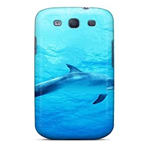 Case Cover Dolphin In Deep Blue Sea/ Fashionable Case For Galaxy S3