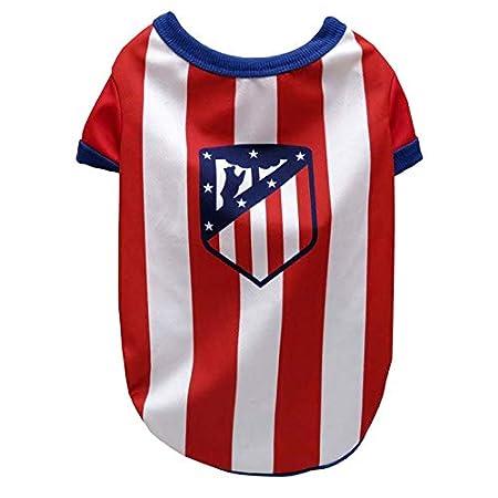 Atletico de Madrid SH-01L-ATL Camiseta para Perros Talla L: Amazon ...