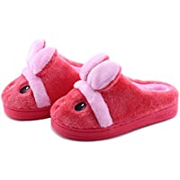 Kid Slippers Cute Rabbit Girls Boys Winter Warm Comfort Home Shoes