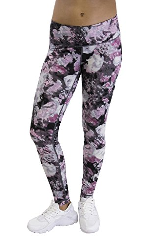 90 Degree By Reflex Activewear Yoga Pants - Peachskin Brushed Printed Leggings Print 289 splitted Rose - Face Find Shape How The To