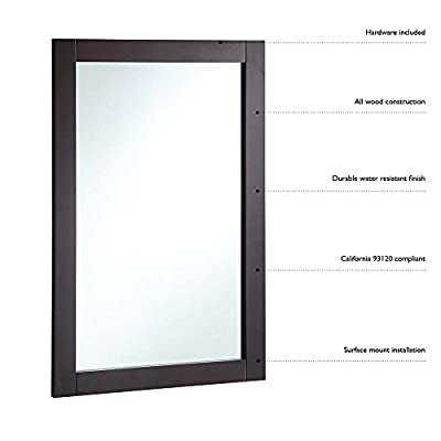Design House Bathroom Vanity Mirror - 20W x 30H in.