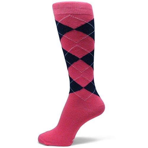 Spotlight Hosiery Men's Groomsmen Wedding Argyle Dress Socks-Bright -
