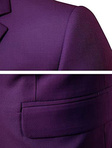 Slim Unie Violet S Unicolore Bussiness Homme Couleur coloré Taille Fuxitoggo Fit Blazer 6FIxA