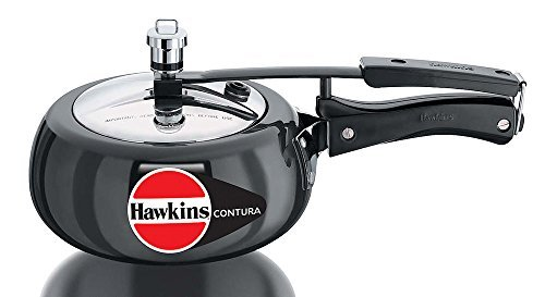 Hawkins CB20 Hard Anodised Pressure Cooker, 2-Liter, Contura Black by Hawkins