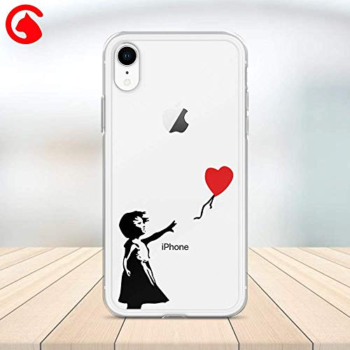 (CatixCases Trend Banksy Girl With Red Balloon Case Bird Cage Cell Phone Plastic Сlear Case for Apple iPhone X/XS/XR/XS Max / 7/8 / plus iPhone 6 / 6S plus Protector Protective Cover Art Design)