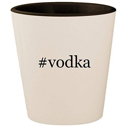 #vodka - Hashtag White Outer & Black Inner Ceramic 1.5oz Shot ()