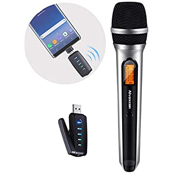 updated premium handheld wireless microphone usb microphone uhf microphone with. Black Bedroom Furniture Sets. Home Design Ideas