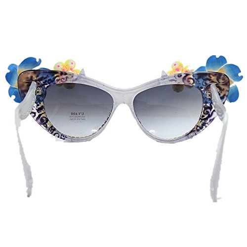 verano gato flores Gafas de playa a de simple UV protección de de sol cristales Gafas de mano mujer Estilo y de sol de de Gafas ojos de de hechas sol nR0wxCxq