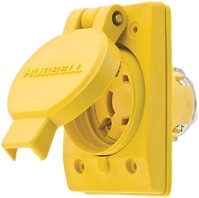 hubbell wiring systems 65w49h twist lock tpe watertight receptacle rh amazon com