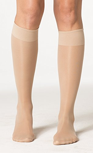 SIGVARIS Women's Sheer Fashion 120 Closed Toe Calf Compression Hose 15-20mmHg ()