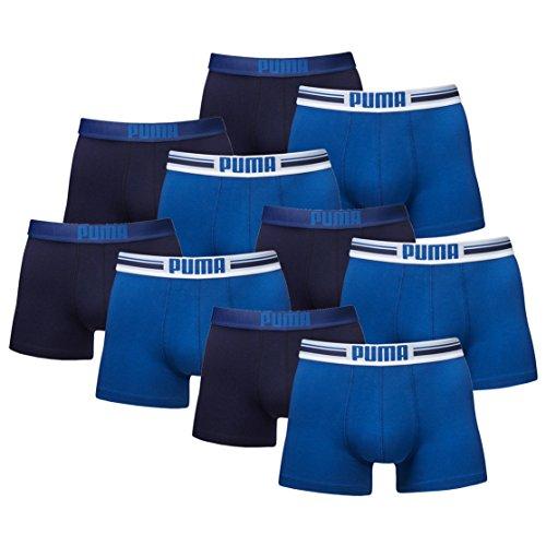 73e51ab7f88a Azul De Placed Boxer nbsp;pack Puma Logo 10 Calzoncillos 41Pn0q