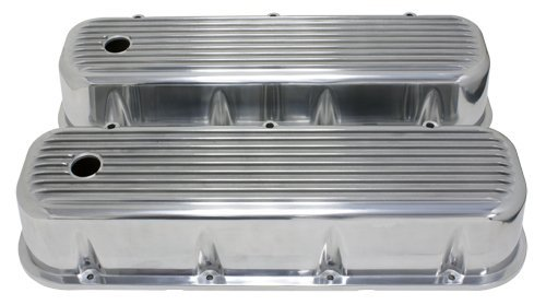 (1965-95 Compatible/Replacement for Chevy Big Block 396-427-454-502 Tall Polished Aluminum Valve Covers -)