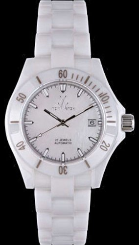 Automatic Mop Dial - Toy Watch CT02WH Mavi Ceramic White MOP Dial Automatic White Ceramic Case/Bracelet