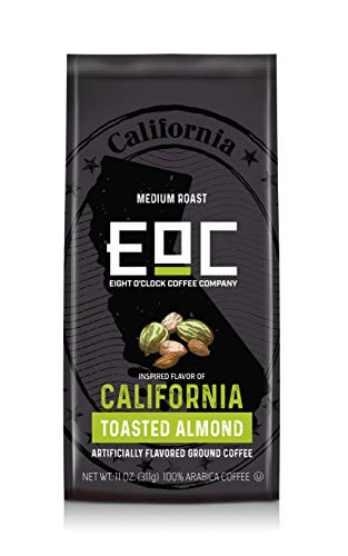 Eight O'Clock Coffee Flavors of America, California Toasted Almond, 11 Ounce