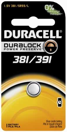 Duracell 381/391 1.5V Watch/Electronic Battery 1 Count