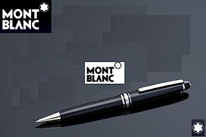 6744ebfd8bdf0 Image Unavailable. Image not available for. Color  Ballpen Montblanc  Platinum Finish Meisterstuck Classique Ballpoint Pen 164
