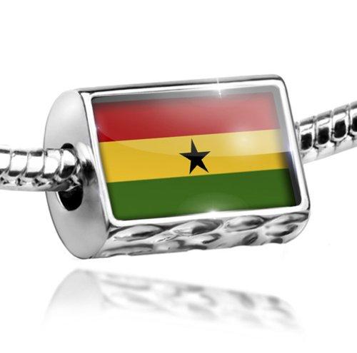 NEONBLOND Charm Ghana Flag - Bead Fit All European Bracelets