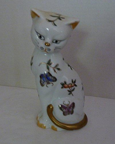 (Vintage Andrea by Sadek Regal Kutani Fine White & Gold Porcelain Cat Made in Japan)