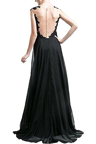 Gruen La A Schwarz Dunkel Partykleider Chiffon Brautjungfernkleider Braut Abendkleider Ballkleider Linie mia Lang Herrlich ORwyqOScAr