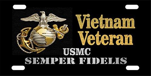 USMC Vietnam Veteran License Plate