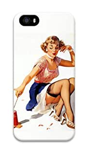 Lilyshouse Hot Sexy Girl 006 Iphone 5 5S Hard Protective 3D Cover Case
