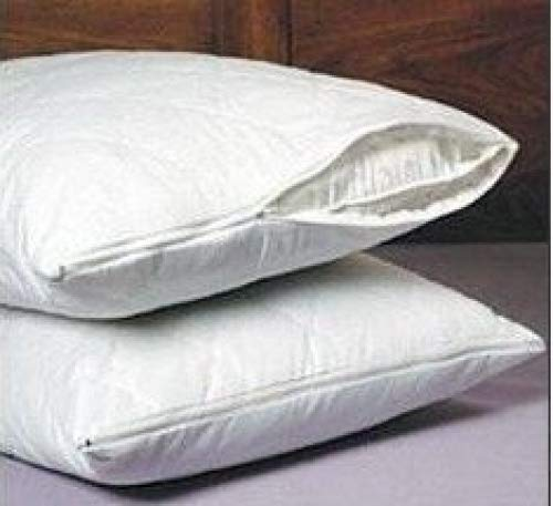 SET OF 2 NEW ZIPPERED QUILTED PILLOW COVERS - KING SIZE