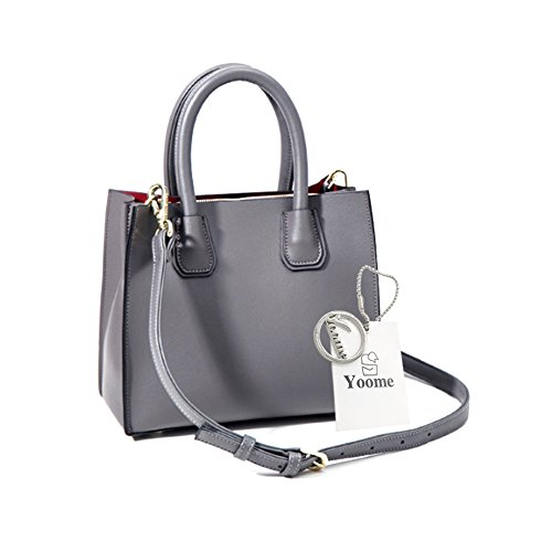 Yoome Medium Crossbody Handtaschen Für Frauen Top Handle Tote Brieftaschen Make-up Beutel Tasche Beiläufige Taschen - Schwarz Grau