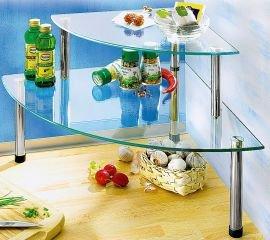 küchen eckregal küchenregal glas: amazon.de: küche & haushalt - Eckregale Küche