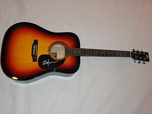(Shooter Jennings Signed Sunburst Acoustic Guitar Country Waylon Proof)