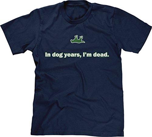 Blittzen Mens In Dog Years, I'm Dead, L, Navy Blue