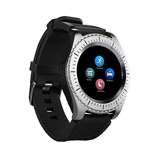 New Z3 Bluetooth3.0 Smart Watch Support SIM and TFcard Camera for Android Phone,Heart Rate Blood Pressure Monitor Call Reminder Activity Trackers Waterproof Remote Control (ONE, Silver)
