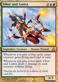 Magic: the Gathering - Tibor and Lumia - Guildpact (Best Red Commander Cards)