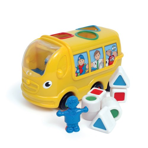 WOW Sidney School Bus - Town (8 Piece Set) - Shape Sorting Bus
