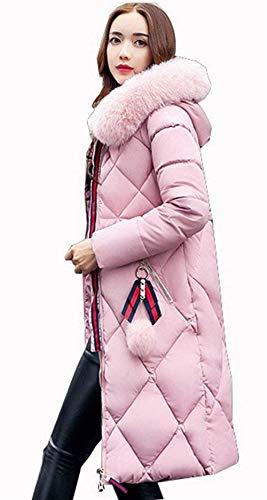 Piumino Addensare Invernali Trench Con Outerwear Vento Parka Chic Hot Colore Accogliente Cappuccio Piumini Ragazza Puro Donna Sezioni Slim Fit Invernale Lunghe Pulver Sciolto Giacca E Moda EFw77UAq
