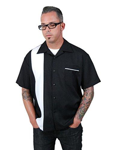 - Steady Clothing Men's Single Panel Button Shirt X-Large Black White